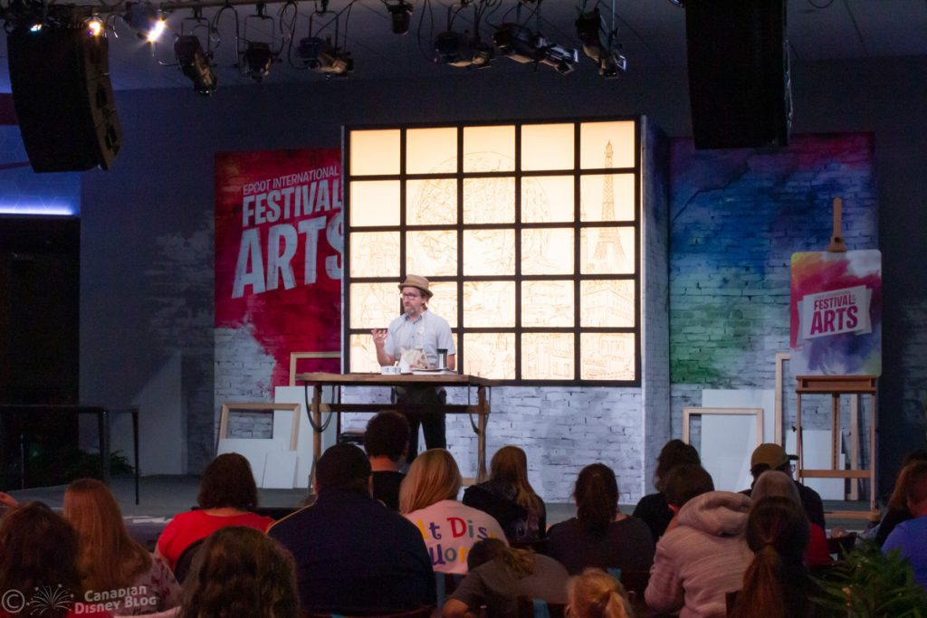 Workshop at Epcot Festival of the Arts