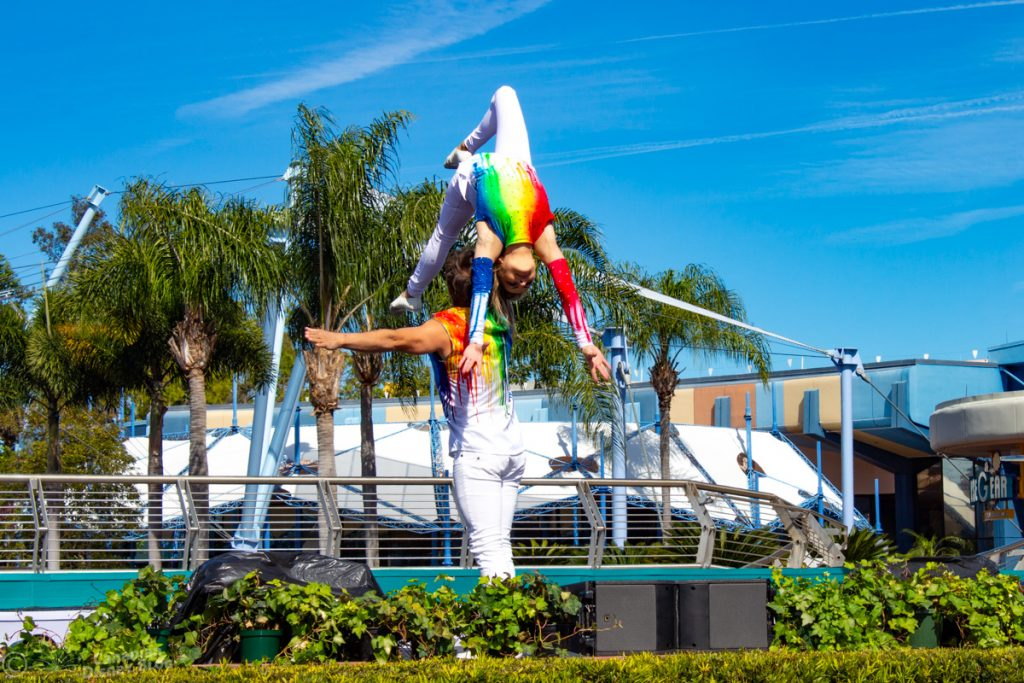 Art Defying Gravity at Epcot Festival of the Arts