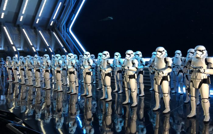 Stormtroopers in Rise of the Resistance at Star Wars Galaxy's Edge