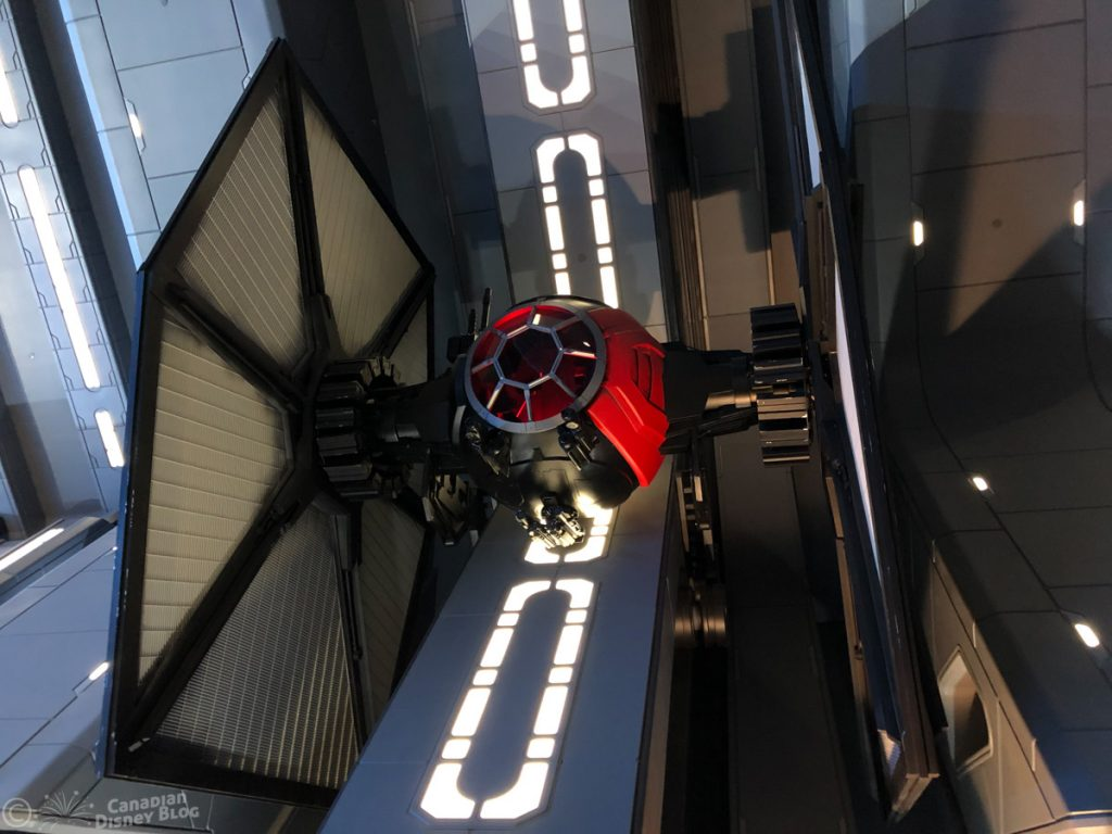 TIE Fighter in Rise of the Resistance at Star Wars Galaxy's Edge