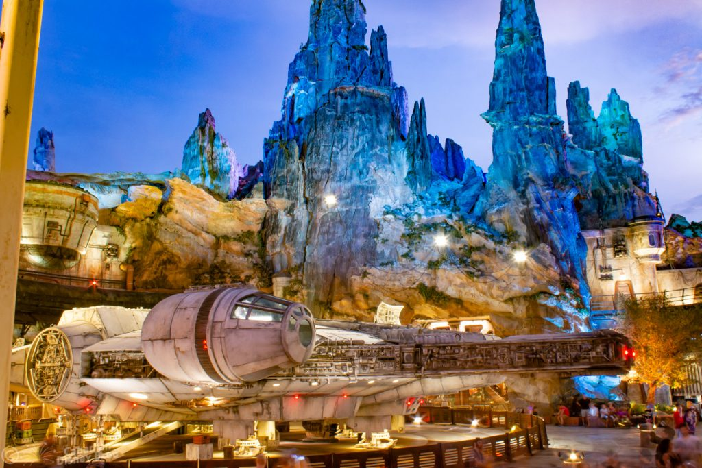 Millennium Falcon in Star Wars Galaxy's Edge