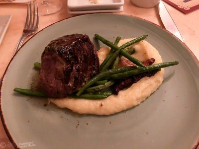 Filet Mignon at the Be Our Guest Restaurant