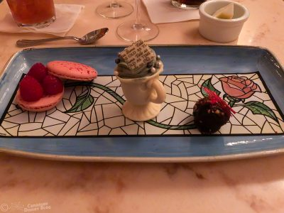 Dessert Trio at the Be Our Guest Restaurant