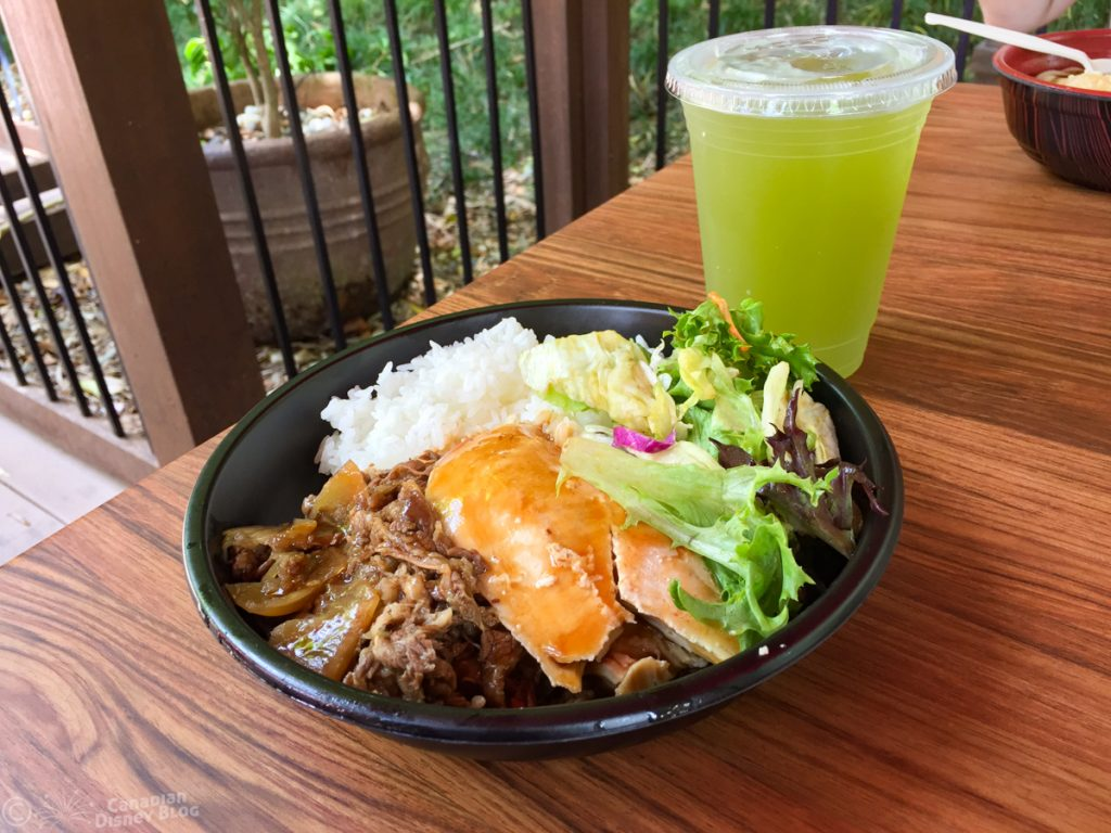 Chicken and Beef Teriyaki from Katsura Grill in the Japanese Pavilion at Epcot