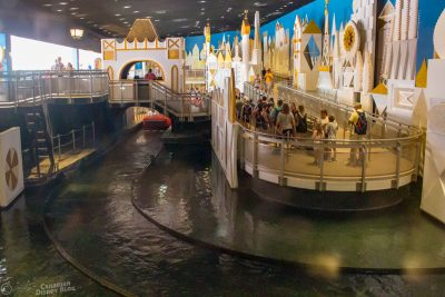 it's a small world view from Pinocchio Village Haus