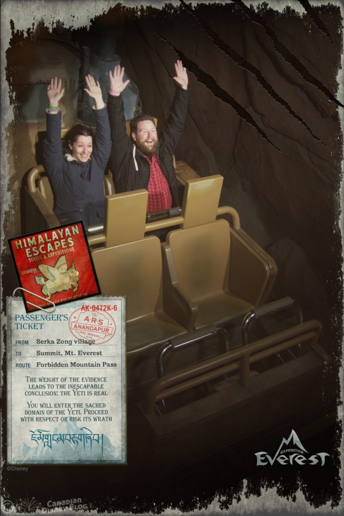 Ryan and Lauren on Expedition Everest at Disney's Animal Kingdom