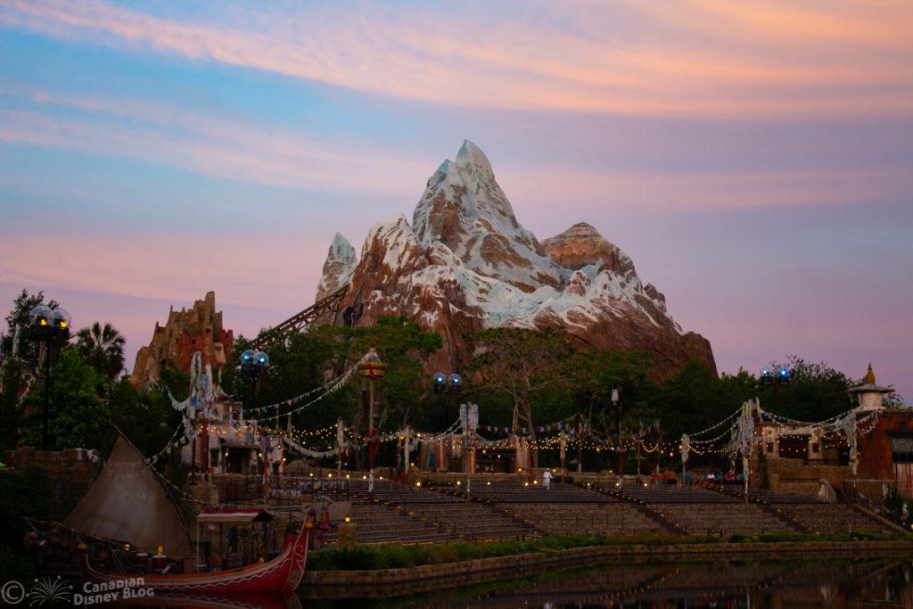 Expedition Everest at Dusk in Disney's Animal Kingdom