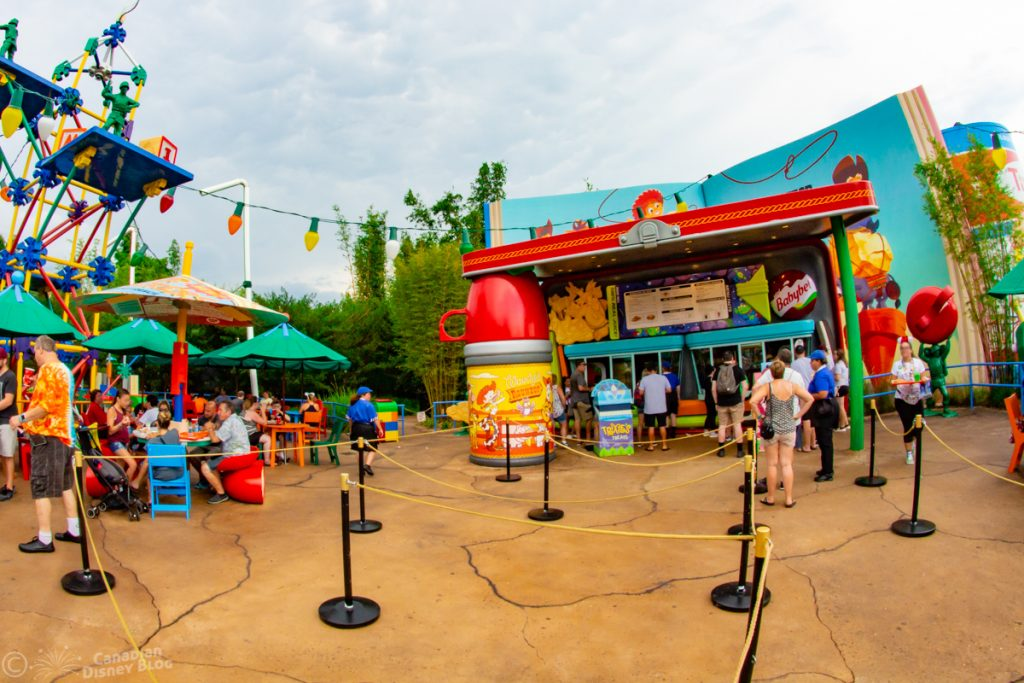 Woody's Lunchbox in Toy Story Land at Disney's Hollywood Studios