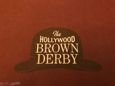 The Hollywood Brown Derby Restaurant in Disney's Hollywood Studios
