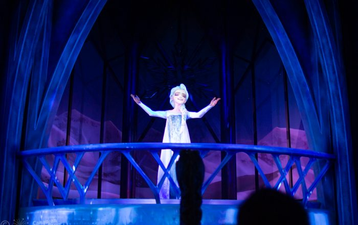 Elsa from Frozen Ever After at Epcot