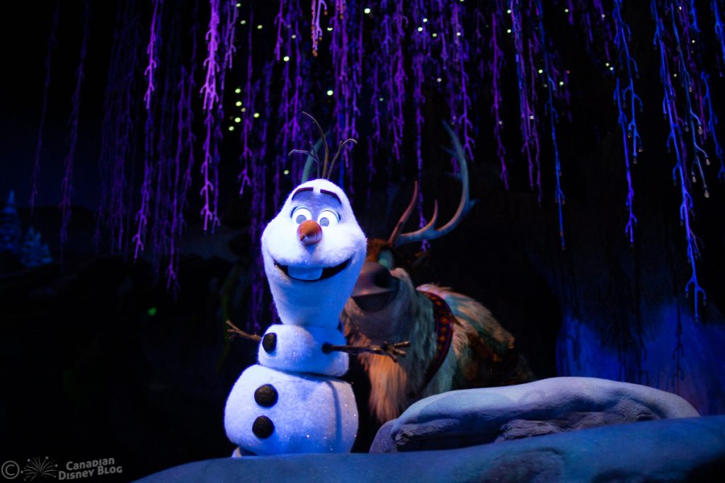 Olaf and Sven from Frozen Ever After at Epcot