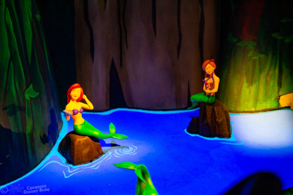 The Little Mermaid in Peter Pan's Flight at the Magic Kingdom