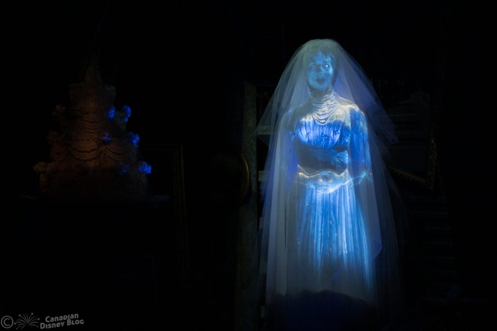 The Bride from the Haunted Mansion at the Magic Kingdom