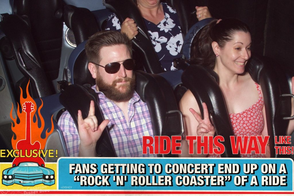 Ryan and Lauren on Rock 'n' Roller Coaster at Disney's Hollywood Studios