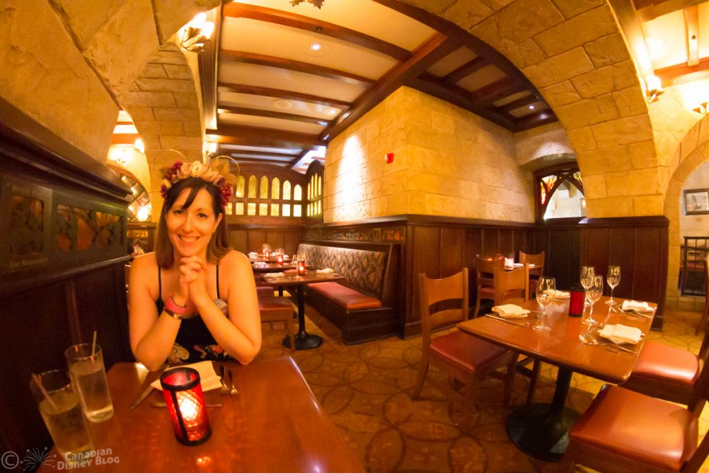 Lauren in Le Cellier at Epcot