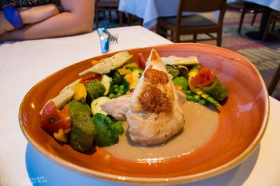 Chicken and dumplings from California Grill at Disney's Contemporary Resort