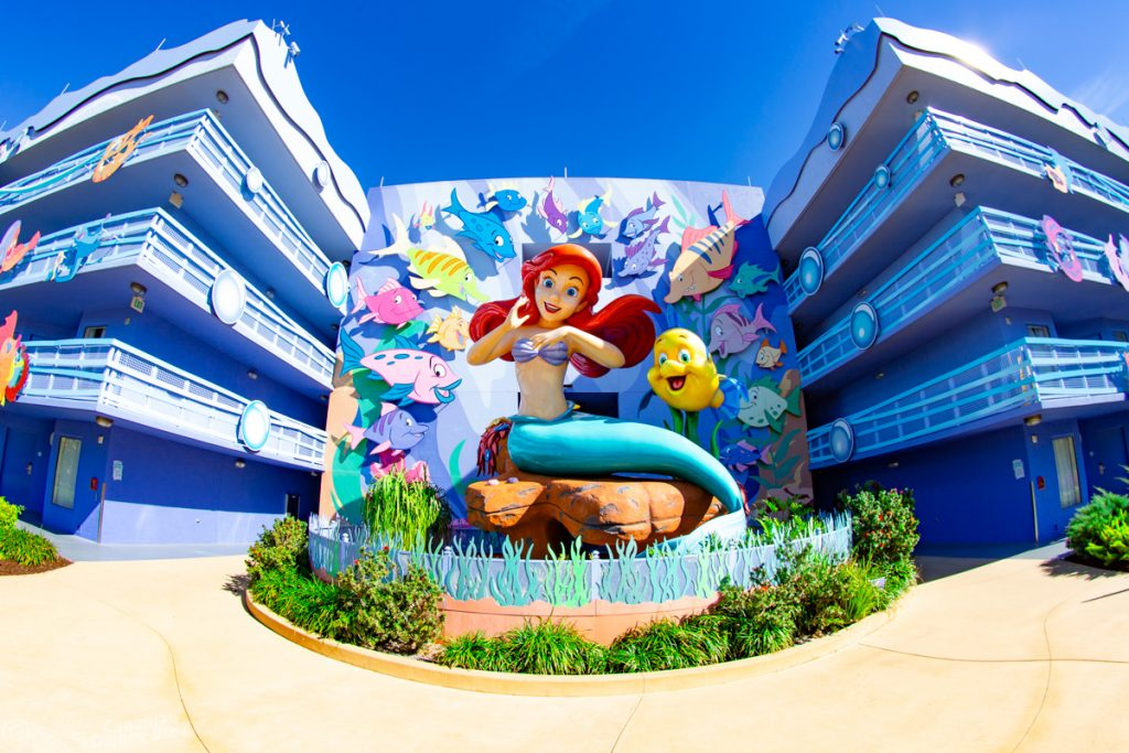 Little Mermaid Statue at Disney's Art of Animation Resort