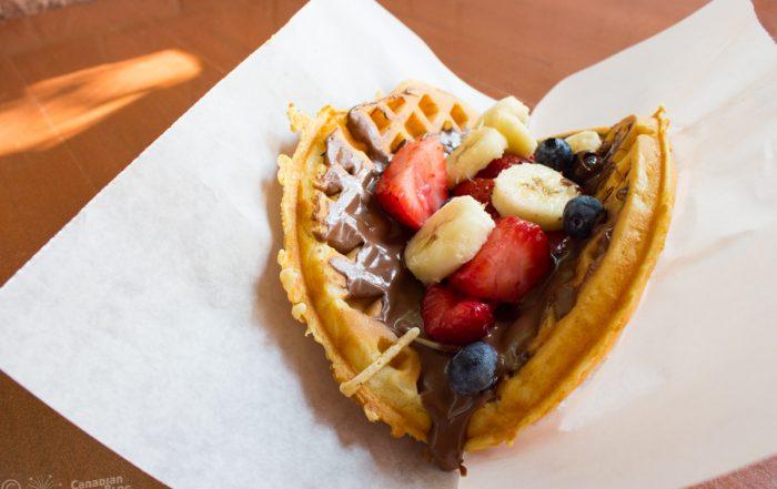 Fresh Fruit Waffle at Sleepy Hollow in the Magic Kingdom